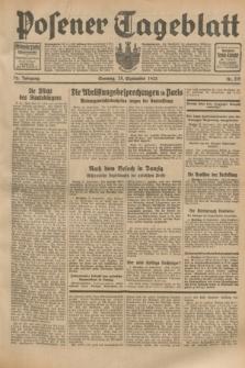 Posener Tageblatt. Jg.72, Nr. 219 (24 September 1933) + dod.