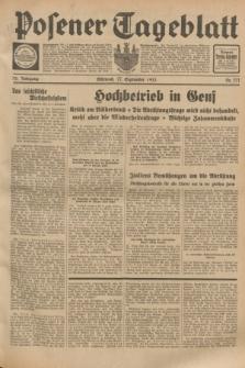 Posener Tageblatt. Jg.72, Nr. 221 (27 September 1933) + dod.