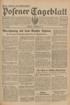Posener Tageblatt. Jg.72, Nr. 256 (8 November 1933) + dod.