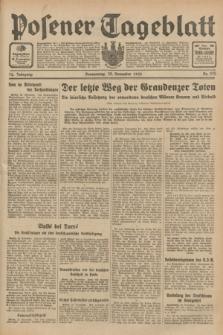 Posener Tageblatt. Jg.72, Nr. 275 (30 November 1933) + dod.