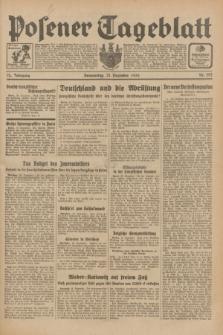 Posener Tageblatt. Jg.72, Nr. 292 (21 Dezember 1933) + dod.