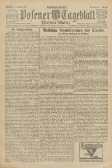 Posener Tageblatt (Posener Warte). Jg.61, Nr. 35 (12 Februar 1922) + dod.
