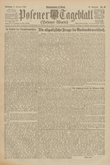Posener Tageblatt (Posener Warte). Jg.61, Nr. 42 (21 Februar 1922)