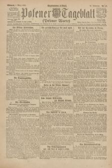 Posener Tageblatt (Posener Warte). Jg.61, Nr. 49 (1 März 1922) + dod.