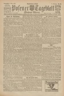 Posener Tageblatt (Posener Warte). Jg.61, Nr. 50 (2 März 1922) + dod.