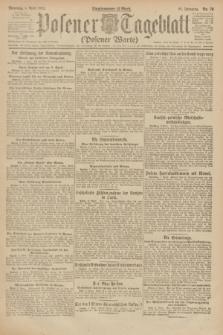 Posener Tageblatt (Posener Warte). Jg.61, Nr. 76 (4 April 1922) + dod.