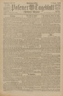 Posener Tageblatt (Posener Warte). Jg.61, Nr. 80 (8 April 1922) + dod.