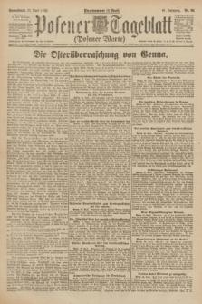 Posener Tageblatt (Posener Warte). Jg.61, Nr. 90 (22 April 1922) + dod.