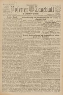 Posener Tageblatt (Posener Warte). Jg.61, Nr. 186 (20 August 1922) + dod.