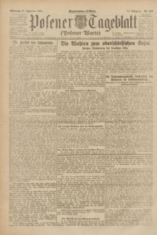 Posener Tageblatt (Posener Warte). Jg.61, Nr. 218 (27 September 1922)
