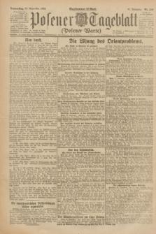 Posener Tageblatt (Posener Warte). Jg.61, Nr. 219 (28 September 1922) + dod.