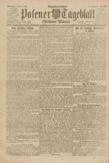 Posener Tageblatt (Posener Warte). Jg.61, Nr. 224 (4 Oktober 1922) + dod.