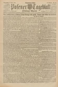 Posener Tageblatt (Posener Warte). Jg.61, Nr. 239 (21 Oktober 1922)