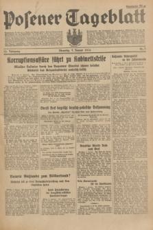 Posener Tageblatt. Jg.73, Nr. 5 (9 Januar 1934) + dod.