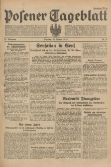 Posener Tageblatt. Jg.73, Nr. 11 (16 Januar 1934) + dod.