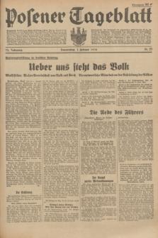 Posener Tageblatt. Jg.73, Nr. 25 (1 Februar 1934) + dod.