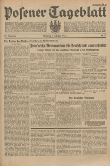 Posener Tageblatt. Jg.73, Nr. 27 (4 Februar 1934) + dod.