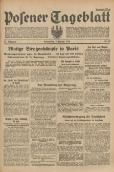 Posener Tageblatt. Jg.73, Nr. 30 (8 Februar 1934) + dod.