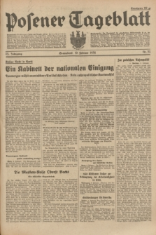 Posener Tageblatt. Jg.73, Nr. 32 (10 Februar 1934) + dod.