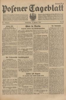 Posener Tageblatt. Jg.73, Nr. 42 (22 Februar 1934) + dod.