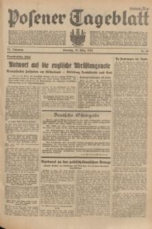 Posener Tageblatt. Jg.73, Nr. 68 (25 März 1934) + dod.