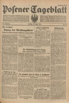 Posener Tageblatt. Jg.73, Nr. 72 (30 März 1934) + dod.