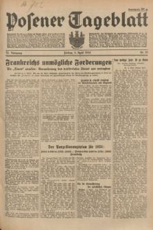 Posener Tageblatt. Jg.73, Nr. 76 (6 April 1934) + dod.