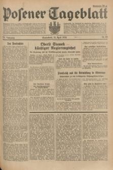 Posener Tageblatt. Jg.73, Nr. 83 (14 April 1934) + dod.