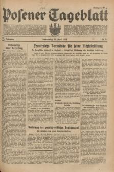 Posener Tageblatt. Jg.73, Nr. 87 (19 April 1934) + dod.