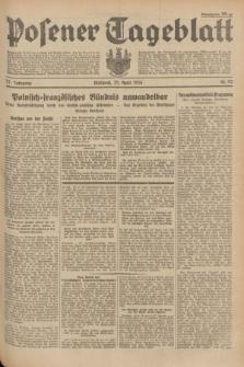 Posener Tageblatt. Jg.73, Nr. 92 (25 April 1934) + dod.