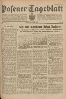 Posener Tageblatt. Jg.73, Nr. 94 (27 April 1934) + dod.