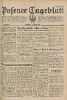 Posener Tageblatt. Jg.73, Nr. 95 (28 April 1934) + dod.