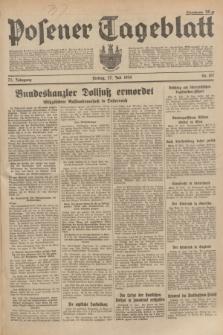 Posener Tageblatt. Jg.73, Nr. 167 (27 Juli 1934) + dod.