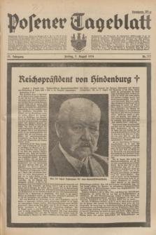 Posener Tageblatt. Jg.73, Nr. 173 (3 August 1934) + dod.