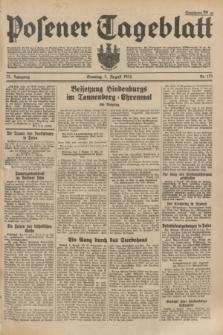 Posener Tageblatt. Jg.73, Nr. 175 (5 August 1934) + dod.