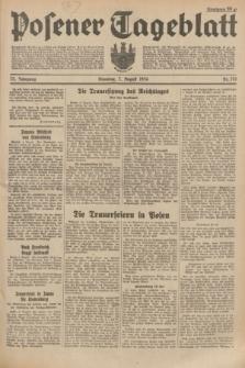 Posener Tageblatt. Jg.73, Nr. 176 (7 August 1934) + dod.