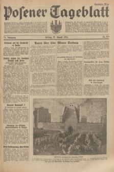 Posener Tageblatt. Jg.73, Nr. 179 (10 August 1934) + dod.