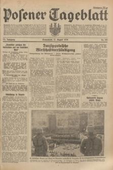 Posener Tageblatt. Jg.73, Nr. 180 (11 August 1934) + dod.