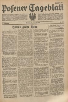 Posener Tageblatt. Jg.73, Nr. 186 (19 August 1934) + dod.