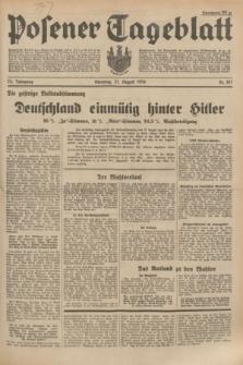 Posener Tageblatt. Jg.73, Nr. 187 (21 August 1934) + dod.