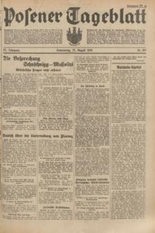 Posener Tageblatt. Jg.73, Nr. 189 (23 August 1934) + dod.