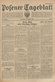 Posener Tageblatt. Jg.73, Nr. 195 (30 August 1934) + dod.