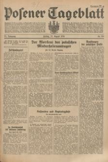 Posener Tageblatt. Jg.73, Nr. 196 (31 August 1934) + dod.