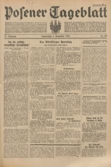 Posener Tageblatt. Jg.73, Nr. 201 (6 September 1934) + dod.