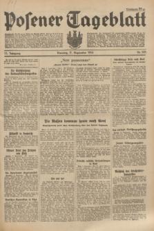 Posener Tageblatt. Jg.73, Nr. 205 (11 September 1934) + dod.