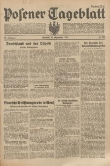 Posener Tageblatt. Jg.73, Nr. 206 (12 September 1934) + dod.