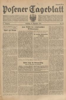 Posener Tageblatt. Jg.73, Nr. 211 (18 September 1934) + dod.