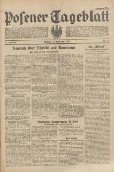 Posener Tageblatt. Jg.73, Nr. 214 (21 September 1934) + dod.
