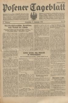 Posener Tageblatt. Jg.73, Nr. 219 (27 September 1934) + dod.
