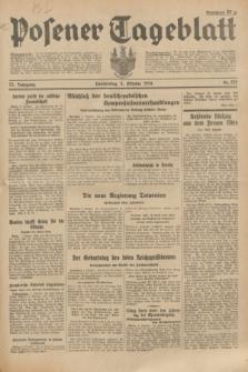 Posener Tageblatt. Jg.73, Nr. 225 (4 Oktober 1934) + dod.